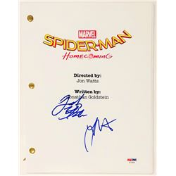 "Jacob Batalon  Laura Harrier Signed ""Spider-Man: Homecoming"" Full Movie Script (PSA COA)"