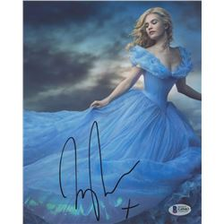 "Lily James Signed ""Cinderella"" 8x10 Photo (Beckett COA)"