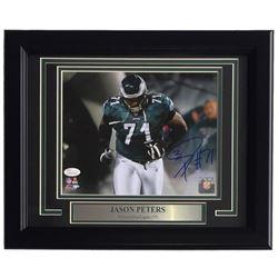 Jason Peters Signed Philadelphia Eagles 11x14 Custom Framed Photo Display (JSA COA)