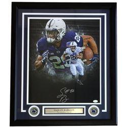 Saquon Barkley Signed Penn State Nittany Lions 22x27 Custom Framed Photo Display (JSA COA)