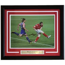 Wayne Rooney Signed England National 16x20 Custom Framed Photo Display (SI COA)