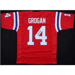 Steve Grogan Signed New England Patriots Jersey (JSA COA)