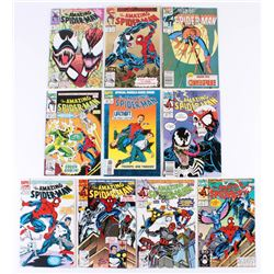 """Lot of (10) 1986-1994 """"The Amazing Spider-Man"""" Marvel Comic Books"""