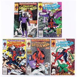 """Lot of (5) 1989 """"The Amazing Spider-Man"""" Marvel Comic Books"""