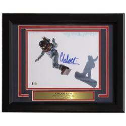 Chloe Kim Signed 11x14 Custom Framed Photo Display (Beckett COA)