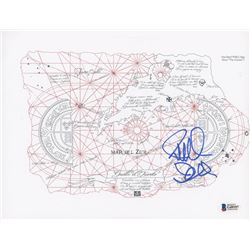 """Richard Donner Signed """"The Goonies"""" 8x10 One-Eyed Willy's Map Print (Beckett COA)"""