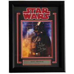"Dave Prowse Signed ""Star Wars"" 14x19 Custom Framed Photo Display Inscribed ""Darth Vader"" (Steiner CO"