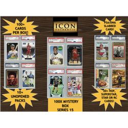 Icon Authentic Blue 100X Mystery Box Series 15 - (100+ Cards Per Box)