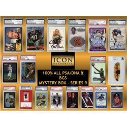 Icon Authentic 100% ALL PSA/DNA  BGS Mystery Box Series 9