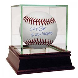 """Alex Cora Signed Baseball Inscribed """"18 WS Champs"""" with High Quality Display Case (Steiner COA)"""