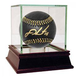 J. D. Martinez Signed OML Black Leather Baseball with High Quality Display Case (Steiner COA)