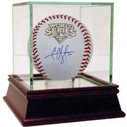 CC Sabathia Signed 2009 World Series Baseball with High Quality Display Case (Steiner COA)