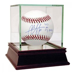 """CC Sabathia Signed Baseball Inscribed """" 07 AL Cy Young"""" with High Quality Display Case (Steiner COA)"""