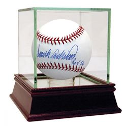 """Frank Robinson Signed Baseball Inscribed """"ROY 56"""" with High Quality Display Case (Steiner COA)"""