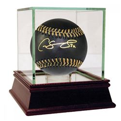 Gary Sanchez Signed Rawlings OML Black Leather Baseball with High Quality Display Case (Steiner COA)