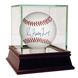 "Greg ""Mad Dog"" Maddux Signed OML Basebal with High Quality Display Case (Steiner COA  MLB Hologram)"