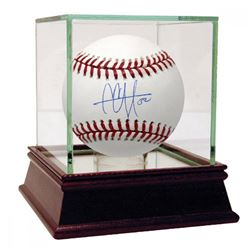CC Sabathia Signed Baseball with High Quality Display Case (MLB Hologram)