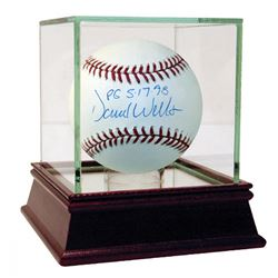 """David Wells Signed OML Baseball Inscribed """"PG 5-17-98"""" with High Quality Display Case (Steiner COA)"""