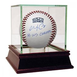 """Alex Cora Signed 2018 World Series Logo Baseball Inscribed """"18 WS Champs"""" with High Quality Display"""