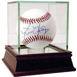 Pedro Alvarez Signed OML Baseball with High Quality Display Case (MLB Hologram)