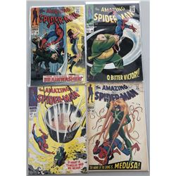 Lot of (4) 1967-68 Marvel Amazing Spider-Man Comic Books with Issues #59-62