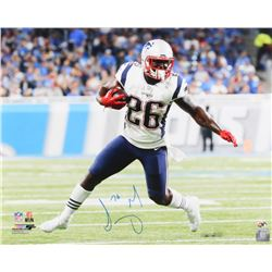 Sony Michel Signed New England Patriots 16x20 Photo (Sure Shot Hologram)