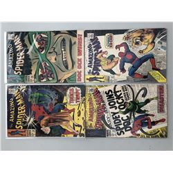 Lot of (4) 1967-68 Marvel Amazing Spider-Man Comic Books