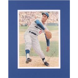 Sandy Koufax Signed Los Angeles Dodgers 12x15 Custom Matted Photo Display (JSA COA)