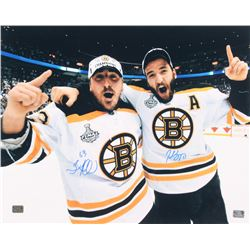 Patrice Bergeron  Brad Marchand Signed Boston Bruins 16x20 Photo (Bergeron  Marchand Hologram)