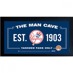 "New York Yankees ""The Man Cave"" 10x20 Custom Framed Photo Display with Game-Used Stadium Dirt (MLB H"