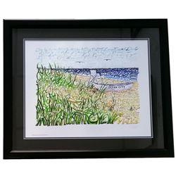 "New Jersey ""Ocean City"" 22x27 Custom Framed Word Art Photo Display"