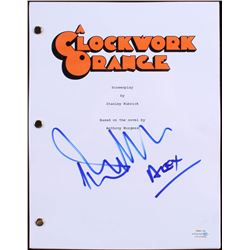 "Malcolm McDowell Signed ""A Clockwork Orange"" Full Movie Script Inscribed ""Alex"" (ACOA Hologram)"