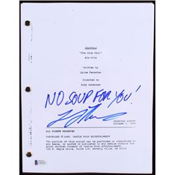 """Larry Thomas Signed """"Seinfeld: The Soup Nazi"""" Full Episode Script Inscribed """"No Soup For You!"""" (Beck"""