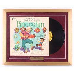 "Walt Disney's ""Pinocchio"" 18x22 Custom Framed Vinyl Record Album Display"