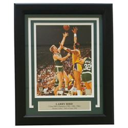 Larry Bird Boston Celtics 11x14 Custom Framed Photo Display