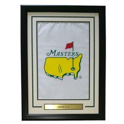 Ernie Els Signed Masters 17x23 Custom Framed Pin Flag Display (PSA LOA)