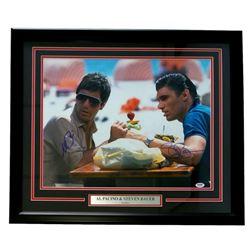 "Al Pacino  Steve Bauer Signed ""Scarface"" 22x27 Custom Framed Photo Display (PSA COA)"