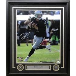 Derek Carr Signed Framed Oakland Raiders 22x27 Custom Framed Photo Display (Steiner COA)
