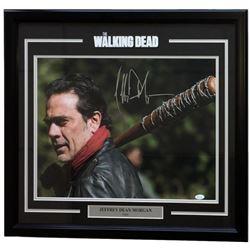 "Jeffrey Dean Morgan Signed ""The Walking Dead"" 25x27 Custom Framed Photo Display (JSA COA)"