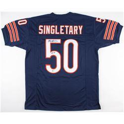 "Mike Singletary Signed Chicago Bears Jersey Inscribed ""HOF 98"" (Beckett COA)"