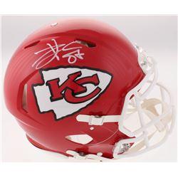 Travis Kelce Signed Kansas City Chiefs Full-Size Authentic On-Field Speed Helmet (Beckett COA)