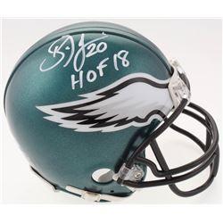 "Brian Dawkins Signed Philadelphia Eagles Mini-Helmet Inscribed ""HOF 18"" (Beckett COA)"
