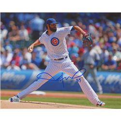 Jason Hammel Signed Chicago Cubs 8x10 Photo (Beckett COA)