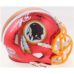 Adrian Peterson Signed Washington Redskins Chrome Speed Mini Helmet (Beckett COA)