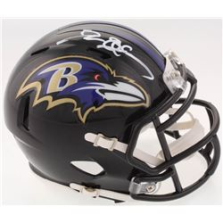 Deion Sanders Signed Baltimore Ravens Speed Mini Helmet (Beckett COA)