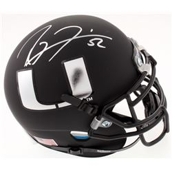 Ray Lewis Signed Miami Hurricanes Matte Black Mini-Helmet (JSA COA)