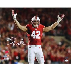 T. J. Watt Signed Wisconsin Badgers 16x20 Photo (JSA COA  Watt Hologram)
