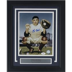 Yogi Berra Signed New York Yankees 14x17 Custom Framed Photo Display (JSA COA)