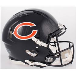 "Dick Butkus Signed Chicago Bears Full-Size Authentic On-Field Speed Helmet Inscribed ""HOF 79"" (JSA C"