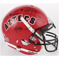 Marshall Faulk Signed San Diego State Aztecs Full-Size Authentic On-Field Helmet with Multiple Inscr